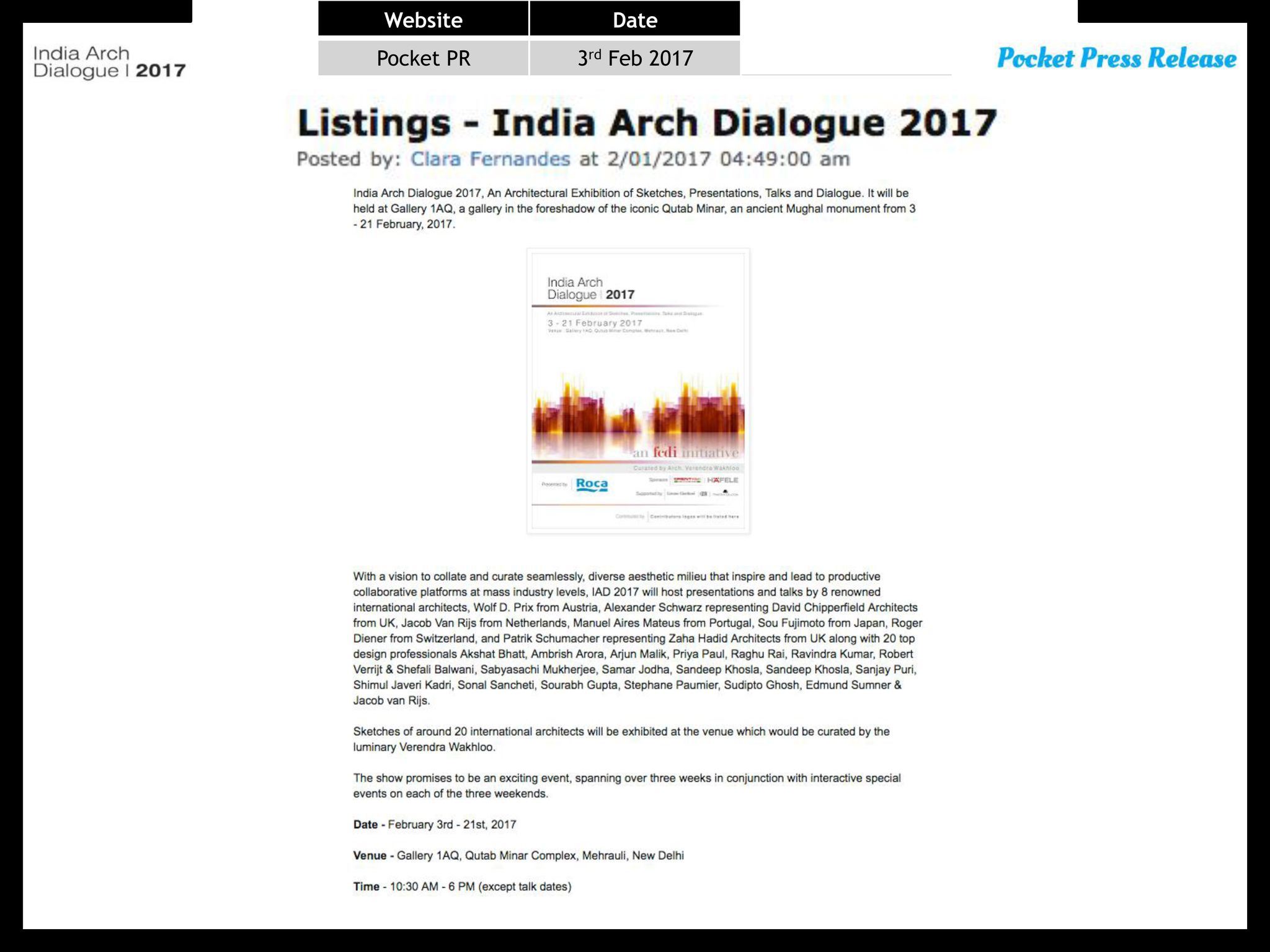 India Today Coverage of India Arch Dialogue 2017